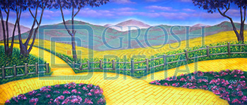 Yellow Brick Road Projected Backdrop for Landscapes, Wizard of Oz