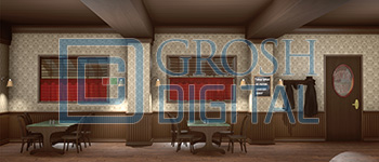 Jacoby's Diner Projected Backdrop for Interiors, Newsies, Towns, Travel