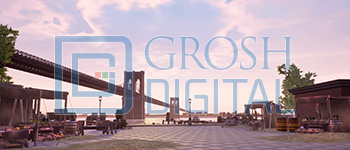Brooklyn Bridge Projected Backdrop for In the Heights, Newsies, Streets, Towns, West Side Story
