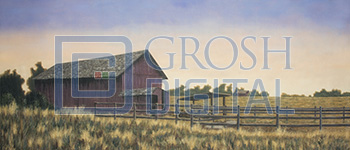 Farm Projected Backdrop for Annie Get Your Gun, Brigadoon, Exteriors, Fiddler on the Roof, Footloose, Oklahoma, Seven Brides for Seven Brothers, Western