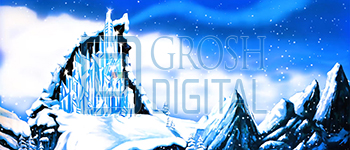 Ice Castle Projected Backdrop for Castles, Exteriors, Frozen, Landscapes, Snows
