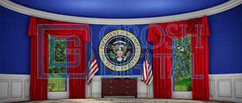 Oval Office Projected Backdrop for Annie, Interiors