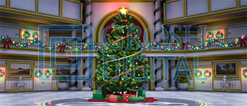 Christmas Mansion Projected Backdrop for Annie, Celebration, Holiday, Interiors, Nutcracker, Palace/Parlors