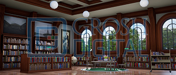 Children's Library Projected Backdrop for Interiors, Matilda
