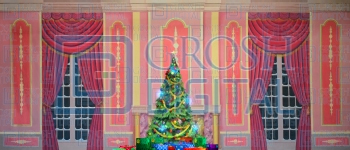Growing Christmas Tree- Pink Parlor (Medium) Projected Backdrop for A Christmas Carol, Annie, Celebration, Holiday, Interiors, Nutcracker, Palace/Parlors