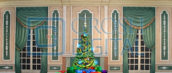 Growing Christmas Tree- Green Parlor (Medium) Projected Backdrop for A Christmas Carol, Annie, Celebration, Holiday, Interiors, Nutcracker, Palace/Parlors