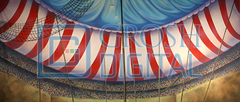 Circus Tent Interior Projected Backdrop for
