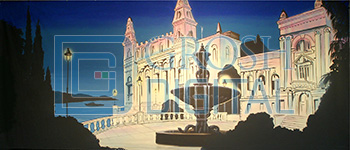 Monte Carlo Projected Backdrop for Castles, Cinderella, Exteriors, Palace/Parlors, Sleeping Beauty