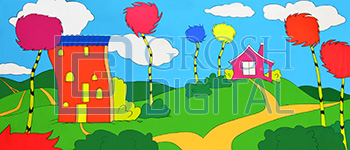 Seussical Landscape Projected Backdrop for Abstract, Landscapes, Seussical