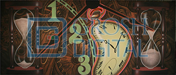 Clock Montage Projected Backdrop for Abstract, Alice in Wonderland, Show, Themes