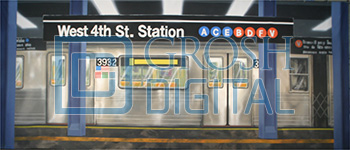 Subway Station Interior Projected Backdrop for