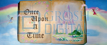 Once Upon a Time Projected Backdrop for Cinderella, Dance, Shrek, Sleeping Beauty