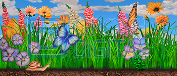 Giant Garden 1 Projected Backdrop for