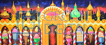Kingdom of the Sweets Projected Backdrop for Holiday, Land of the Sweets, Nutcracker, Palace/Parlors