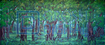 Dark Forest Projected Backdrop for