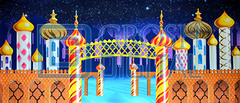 Kingdom of the Sweets 1 Projected Backdrop for Aladdin, Dance, Holiday, Land of the Sweets, Nutcracker