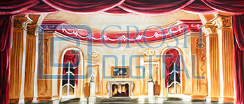 Parlor Interior Projected Backdrop for Beauty and the Beast, Cinderella, Dance, Frozen, Interiors, Little Mermaid, Nutcracker, Palace/Parlors
