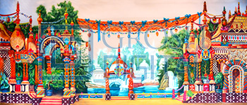 Palace Projected Backdrop for Aladdin, Dance, Exteriors, Nutcracker, Palace/Parlors