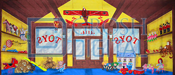 Toy Store Projected Backdrop for