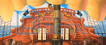 Pirate Ship Deck Projected Backdrop for