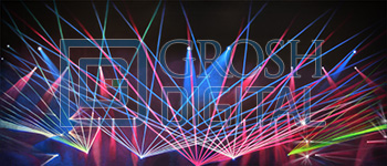 Dance Lights Projected Backdrop for Abstract, Dance