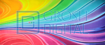 Colorful Abstract Projected Backdrop for Abstract, Dance
