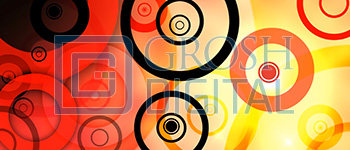 Colorful Abstract Circles Projected Backdrop for Abstract, Alice in Wonderland, Dance