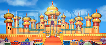 Arabian Palace Exterior Projected Backdrop for