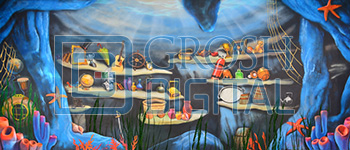 Ariel's Grotto Projected Backdrop for