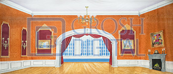 Victorian Parlor Projected Backdrop for Interiors, Nutcracker, Palace/Parlors, Peter Pan, Sound of Music
