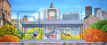 Central Park Zoo Projected Backdrop for