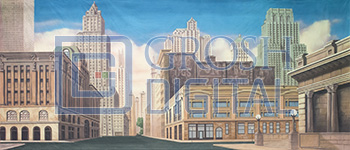 New York Street Projected Backdrop for