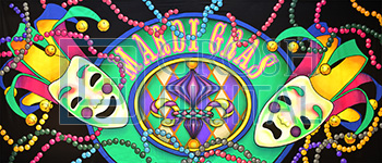 Mardi Gras Projected Backdrop for Celebration, Dance, Holiday, Travel