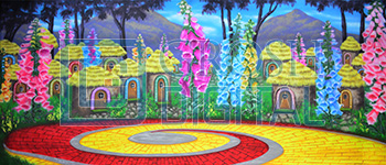 Oz Munchkinland Projected Backdrop for Landscapes, Wizard of Oz