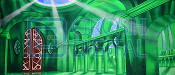 Oz Emerald City Interior Projected Backdrop for