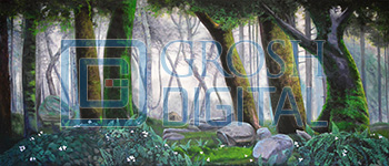 Forest Panel 3 Projected Backdrop for Addams Family, Alice in Wonderland, Beauty and the Beast, Big Fish, Brigadoon, Cinderella, Forest, Into the Woods, Lion King, Madagascar, Peter Pan, Seven Brides for Seven Brothers, Shrek, Sleeping Beauty, Wizard of Oz