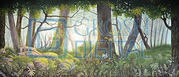 Forest Panel 4 Projected Backdrop for Addams Family, Alice in Wonderland, Beauty and the Beast, Big Fish, Brigadoon, Cinderella, Forest, Giselle, Into the Woods, Lion King, Madagascar, Peter Pan, Seven Brides for Seven Brothers, Shrek, Sleeping Beauty, Wizard of Oz