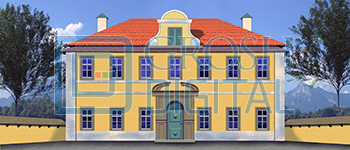 Villa Exterior Projected Backdrop for