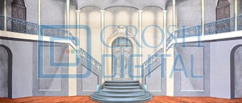 Villa Interior Projected Backdrop for
