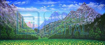 Mountain Landscape 3 Projected Backdrop for