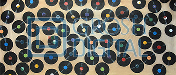 Records Projected Backdrop for Abstract, Dance, Footloose, Grease, Hairspray