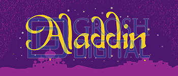 Aladdin Show Curtain Projected Backdrop for