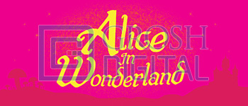 Alice in Wonderland Show Curtain Projected Backdrop for