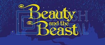 Beauty and the Beast Show Curtain Projected Backdrop for