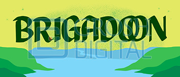 Brigadoon Show Curtain Projected Backdrop for