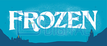 Frozen Show Curtain Projected Backdrop for