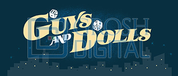 Guys and Dolls Show Curtain Projected Backdrop for