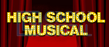 High School Musical Show Curtain Projected Backdrop for High School Musical, Show Curtains