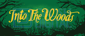 Into the Woods Show Curtain Projected Backdrop for