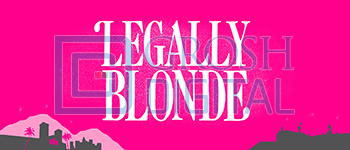 Legally Blonde Show Curtain Projected Backdrop for